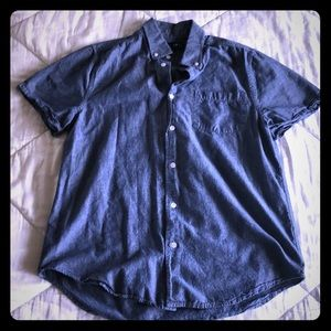 Dark chambray collared button up